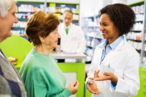 Pharmacist communicating