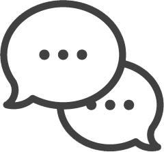 icon or speech bubbles