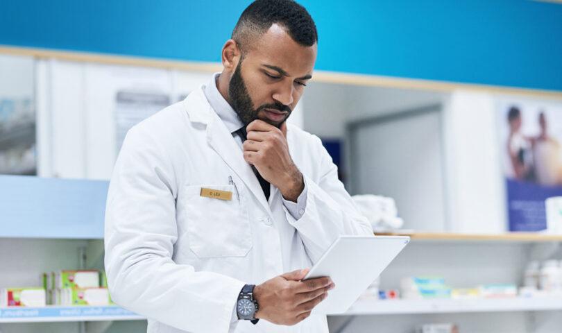 Pharmacist thinking
