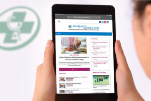 Pharmacist navigating the new Pharmacy Connection online